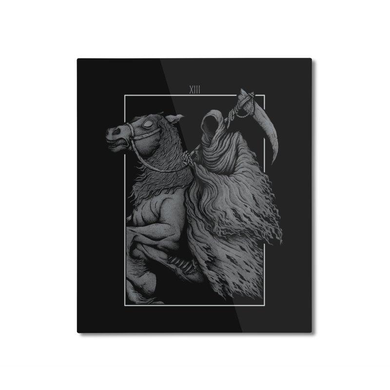 Death Home Mounted Aluminum Print by Deniart's Artist Shop