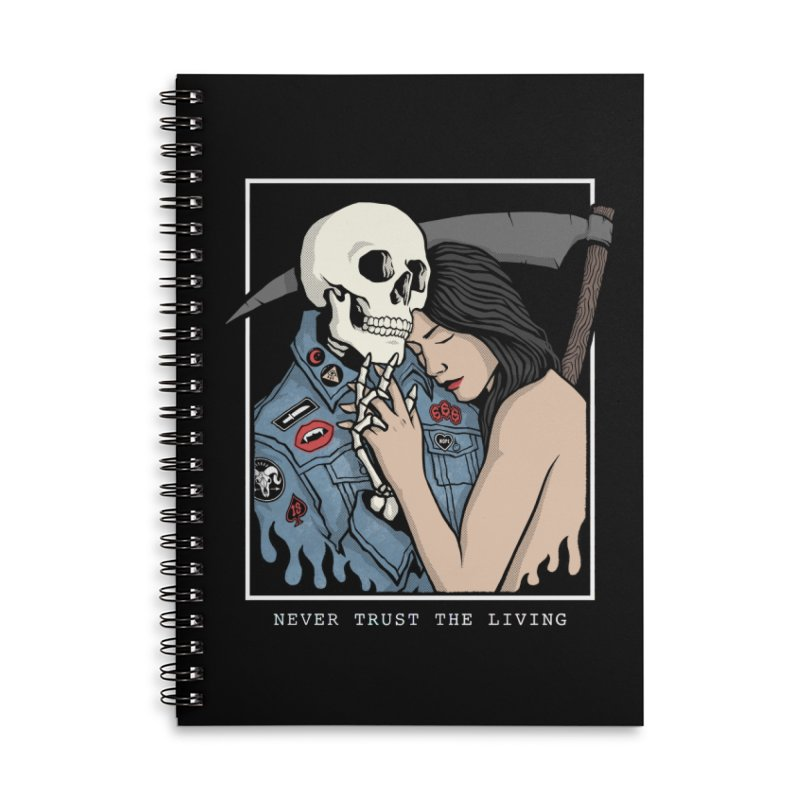 Never Trust the Living Accessories Notebook by Deniart's Artist Shop
