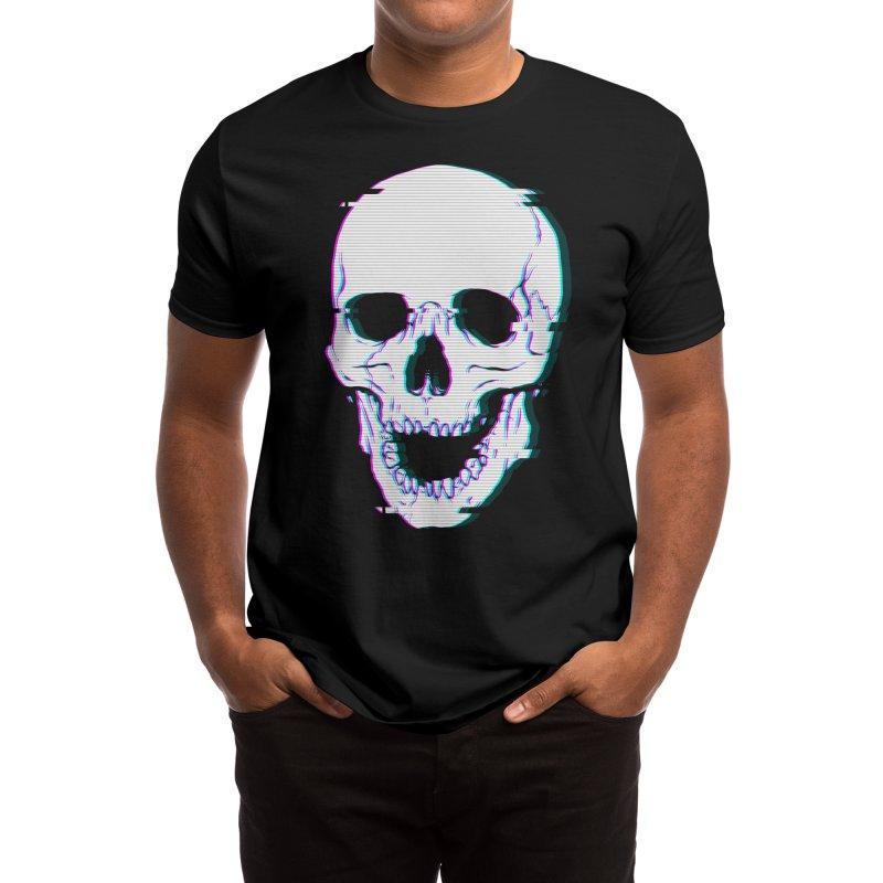 Glitch Skull Men's T-Shirt by Deniart's Artist Shop