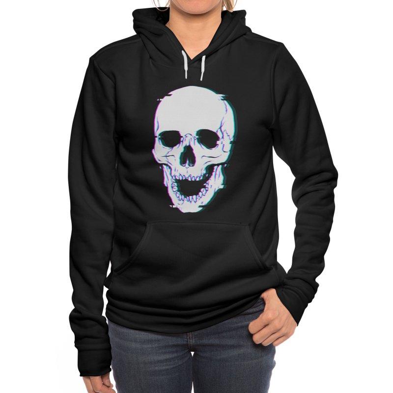 Glitch Skull Women's Pullover Hoody by Deniart's Artist Shop
