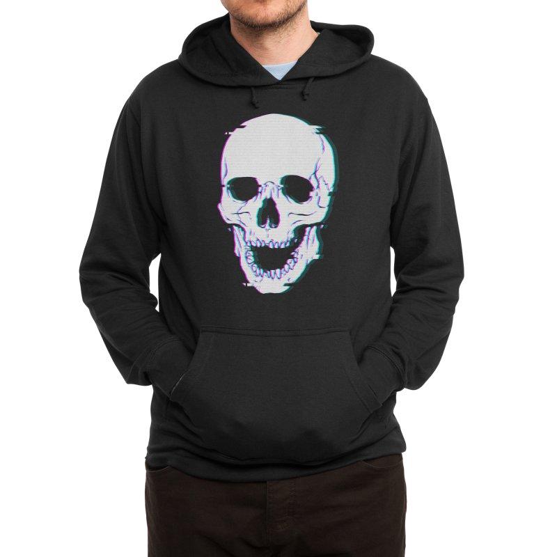 Glitch Skull Men's Pullover Hoody by Deniart's Artist Shop