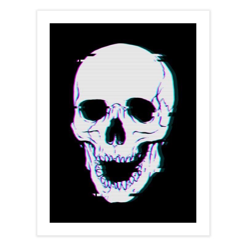Glitch Skull Home Fine Art Print by Deniart's Artist Shop