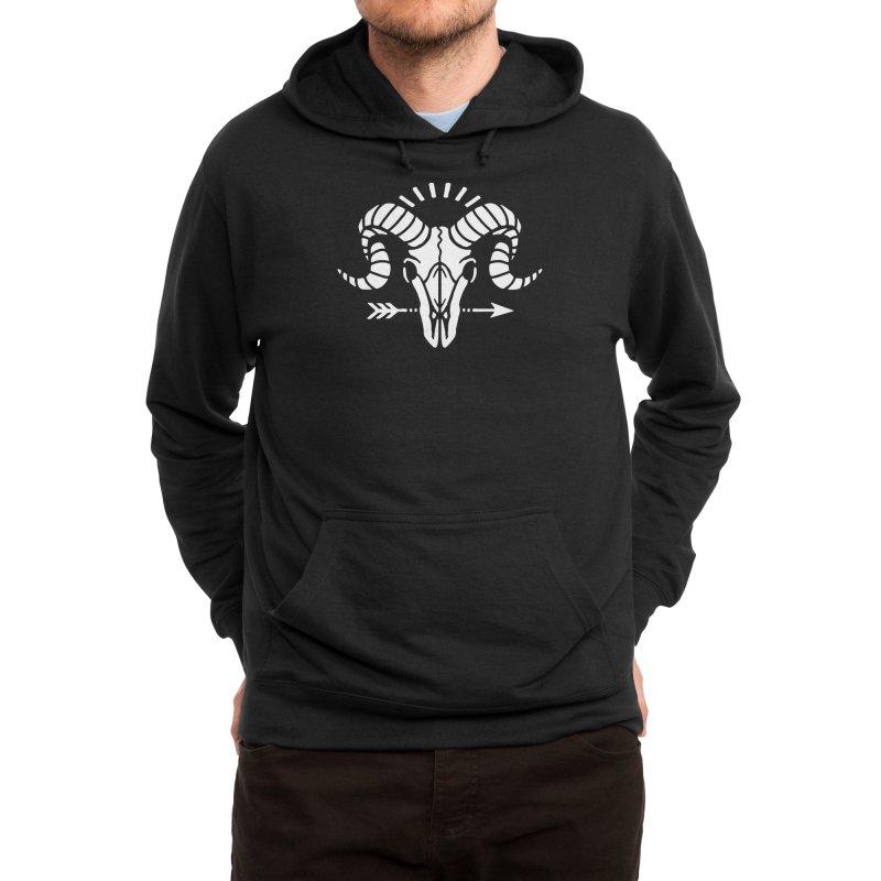 Deniart's Goat Skull Men's Pullover Hoody by Deniart's Artist Shop
