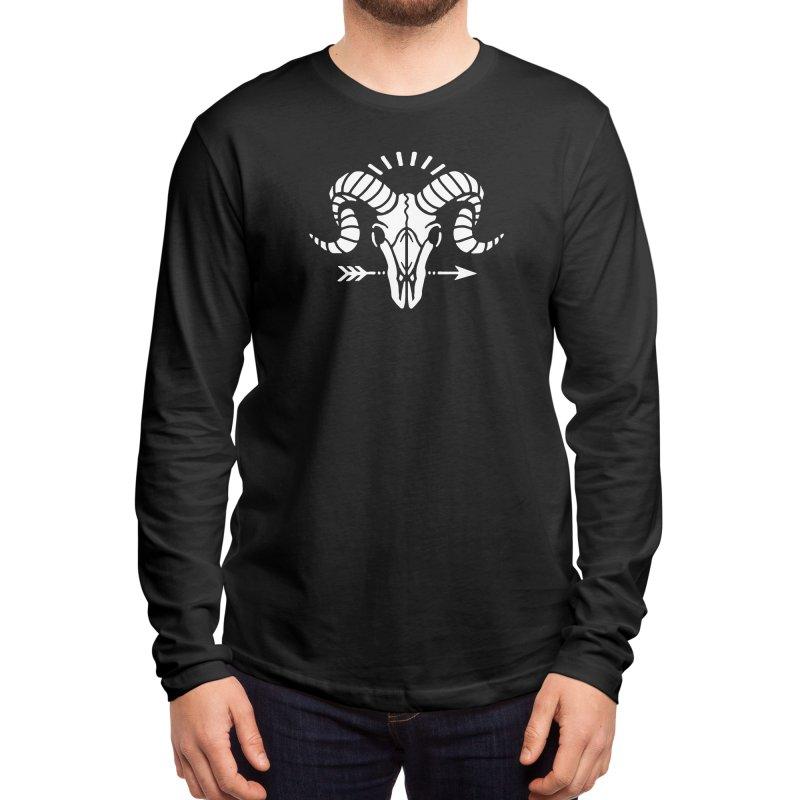Deniart's Goat Skull Men's Longsleeve T-Shirt by Deniart's Artist Shop