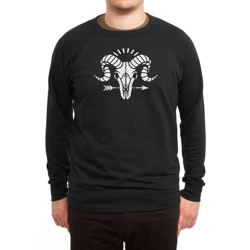 Deniart's Goat Skull Men's Sweatshirt by Deniart's Artist Shop