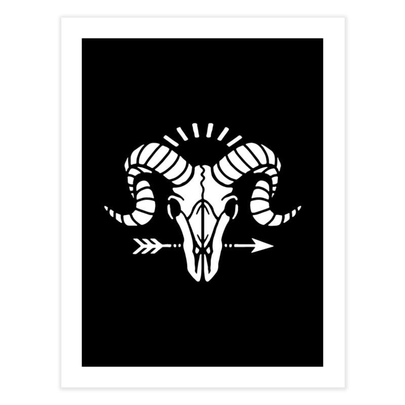 Deniart's Goat Skull Home Fine Art Print by Deniart's Artist Shop