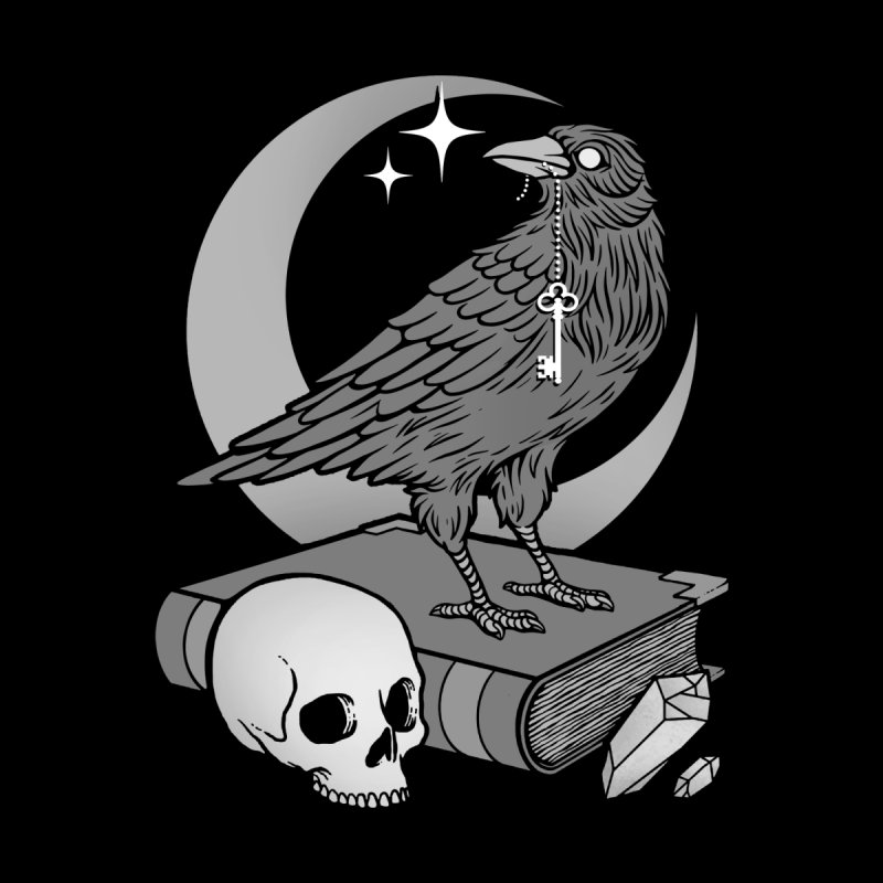 Occult Crow Home Mounted Aluminum Print by Deniart's Artist Shop