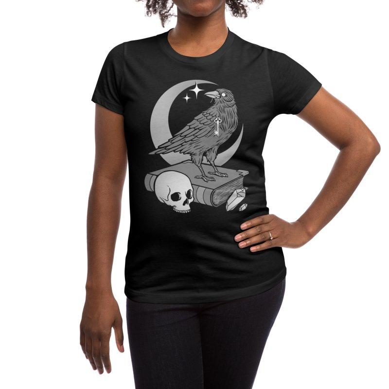 Occult Crow Women's T-Shirt by Deniart's Artist Shop