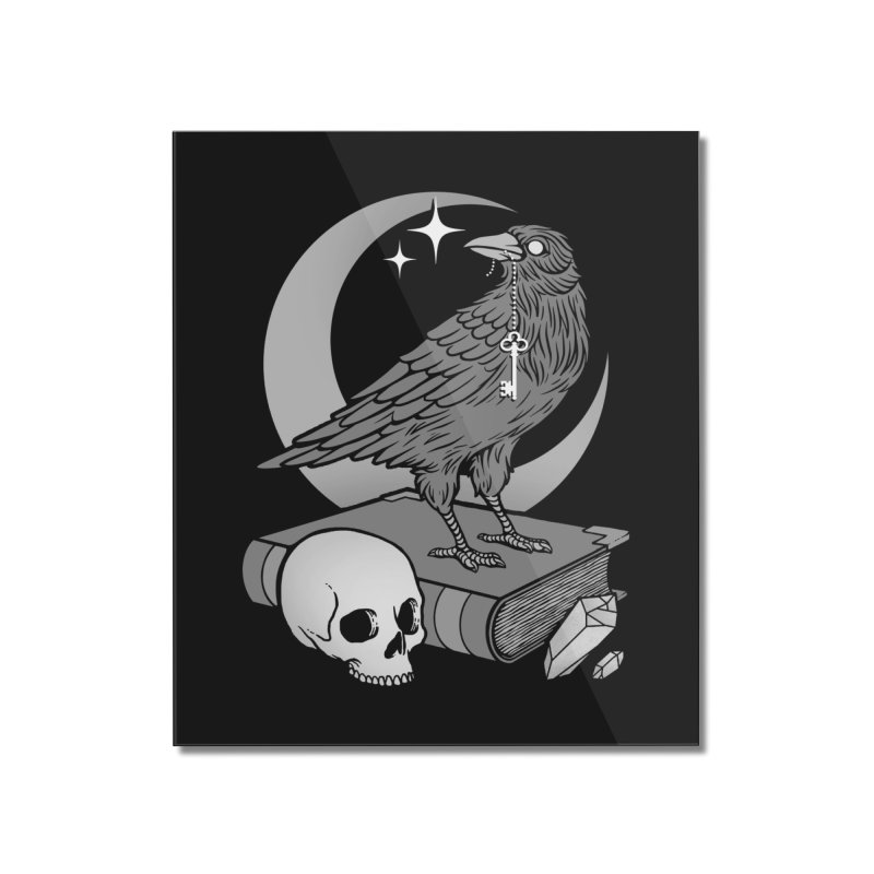 Occult Crow Home Mounted Acrylic Print by Deniart's Artist Shop