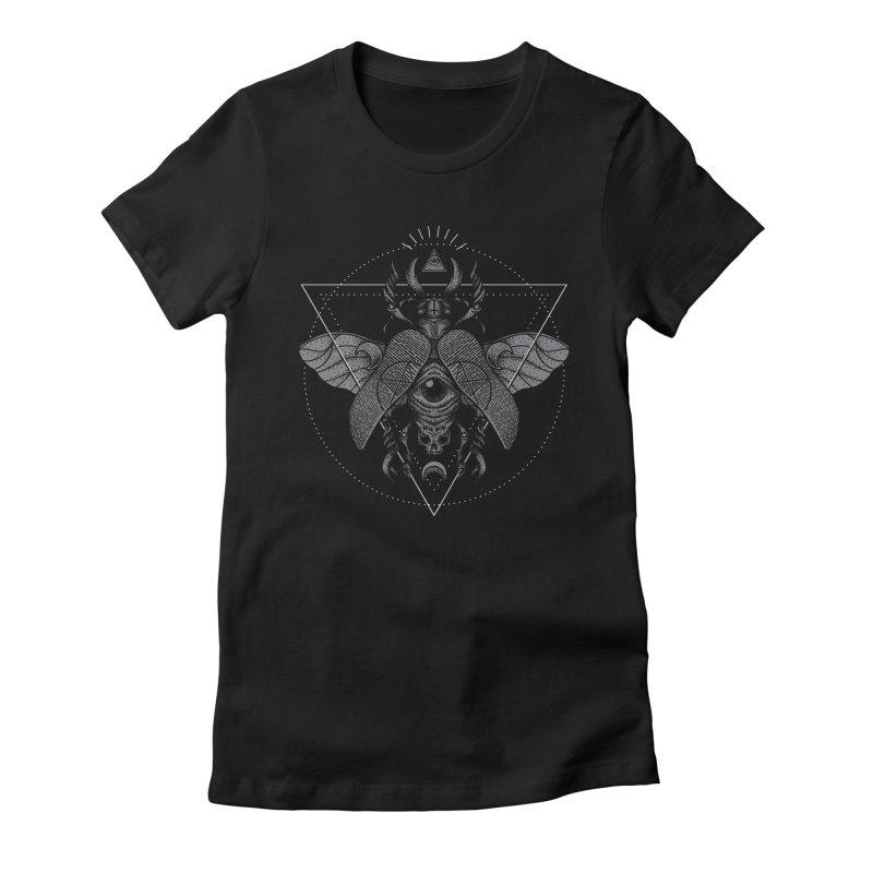 Oculus Women's Fitted T-Shirt by Deniart's Artist Shop