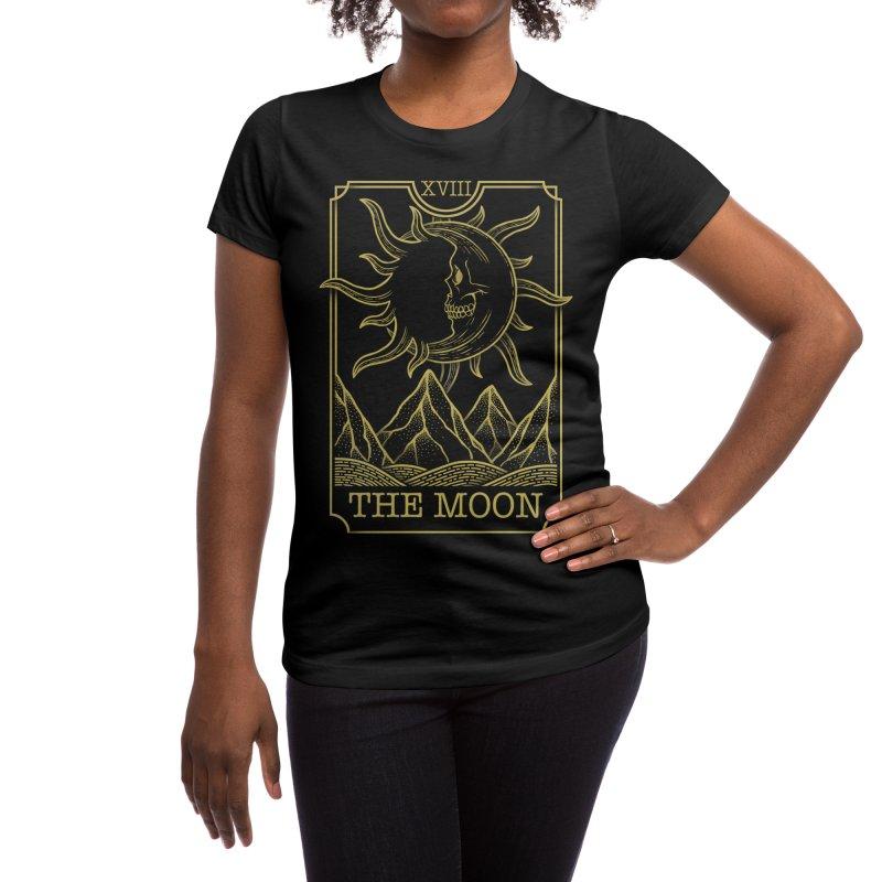The Moon Women's T-Shirt by Deniart's Artist Shop