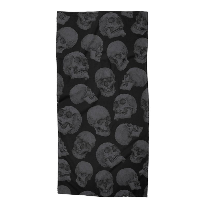 Skulls Accessories Beach Towel by Deniart's Artist Shop