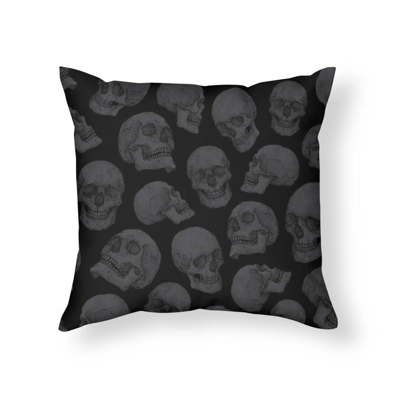 Skulls Home Throw Pillow by Deniart's Artist Shop