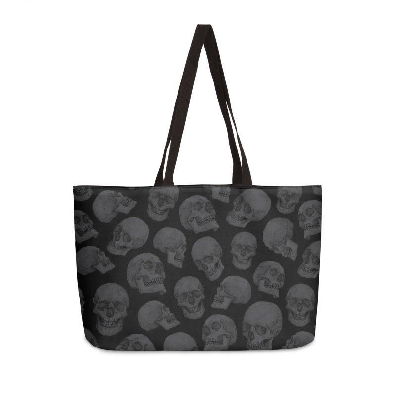 Skulls Accessories Weekender Bag Bag by Deniart's Artist Shop