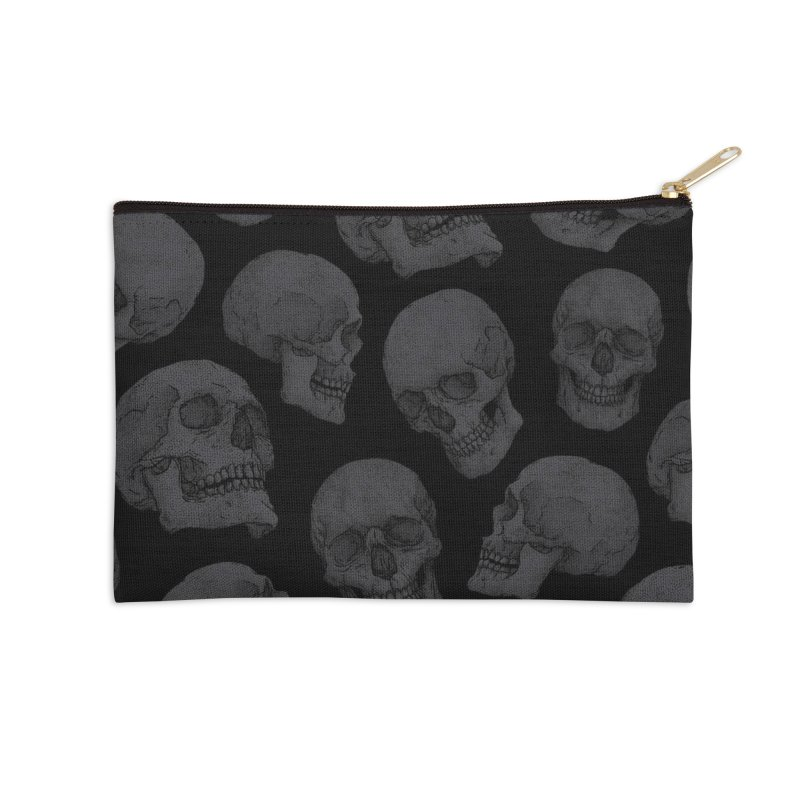 Skulls Accessories Zip Pouch by Deniart's Artist Shop