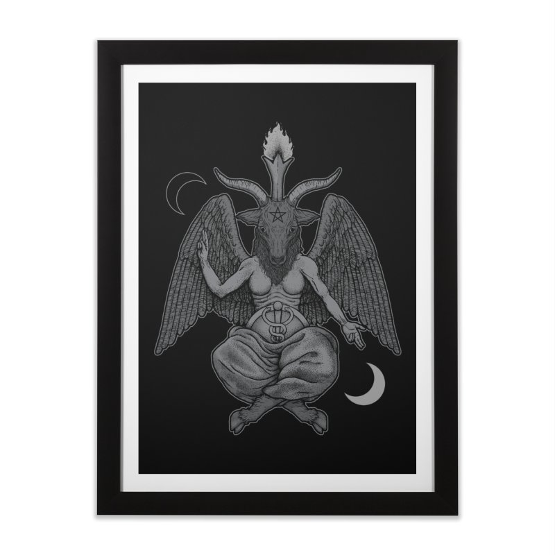 Baphometh Home Framed Fine Art Print by Deniart's Artist Shop