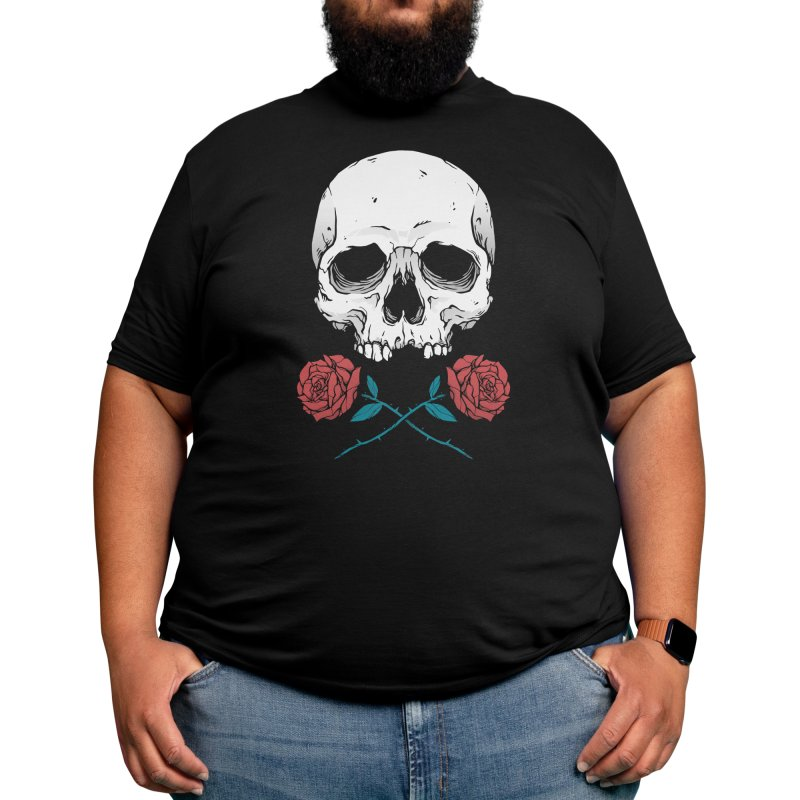 Skull and Roses Men's T-Shirt by Deniart's Artist Shop
