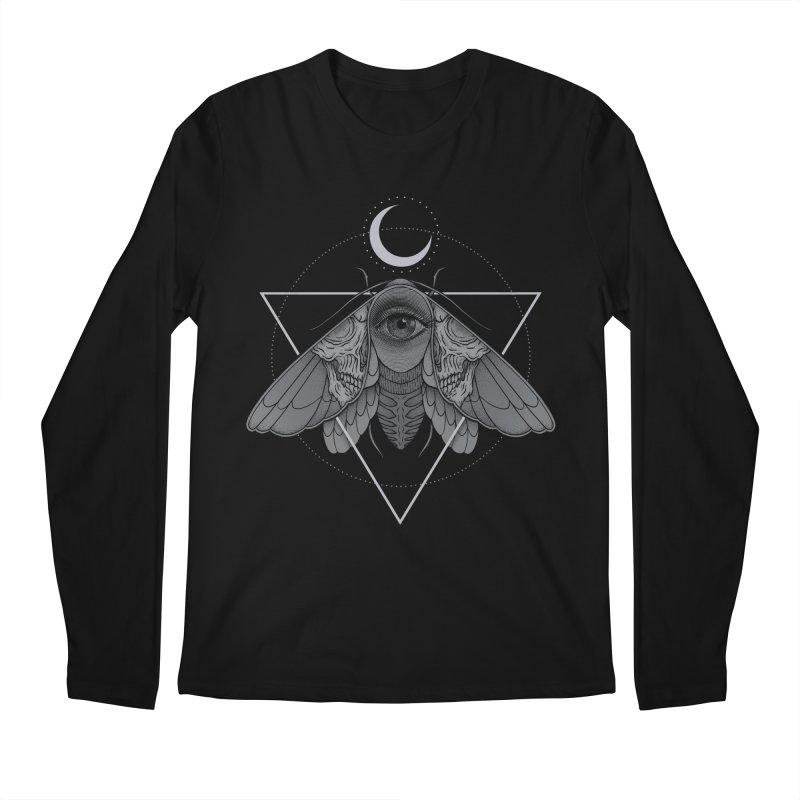Occult Moth Men's Longsleeve T-Shirt by Deniart's Artist Shop