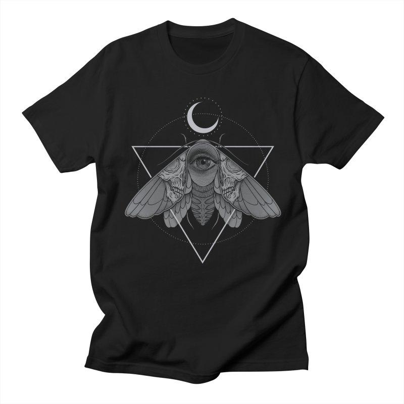 Occult Moth Men's T-Shirt by Deniart's Artist Shop