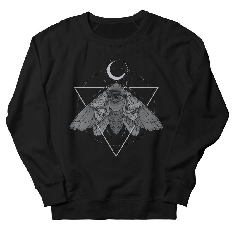 Occult Moth Men's Sweatshirt by Deniart's Artist Shop