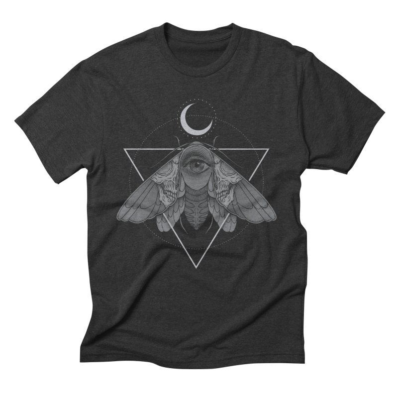 Occult Moth Men's Triblend T-Shirt by Deniart's Artist Shop