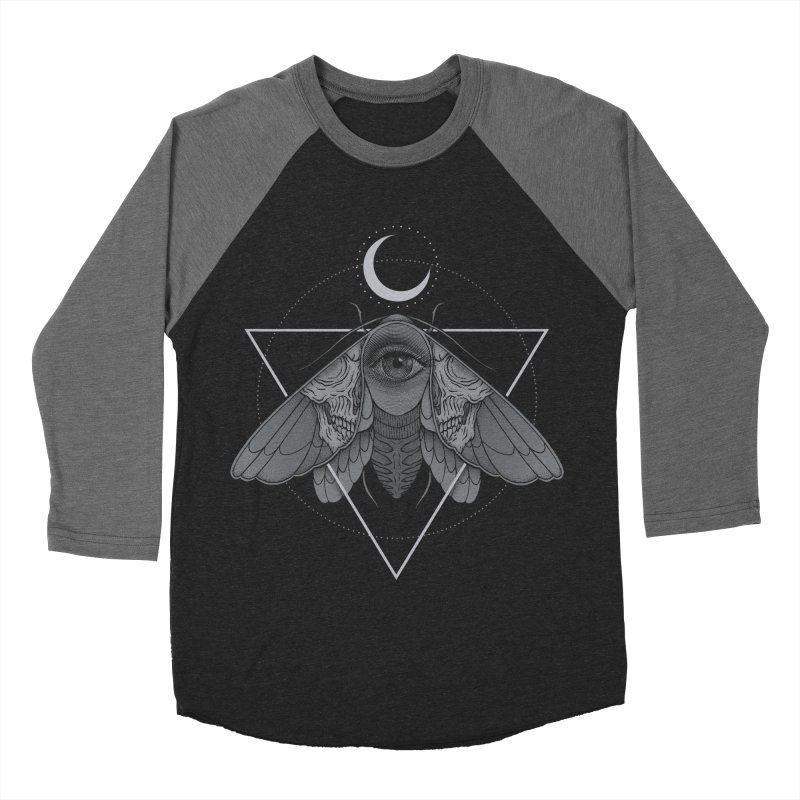 Occult Moth Women's Baseball Triblend T-Shirt by Deniart's Artist Shop