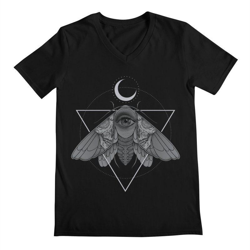 Occult Moth Men's V-Neck by Deniart's Artist Shop