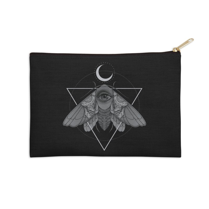 Occult Moth Accessories Zip Pouch by Deniart's Artist Shop