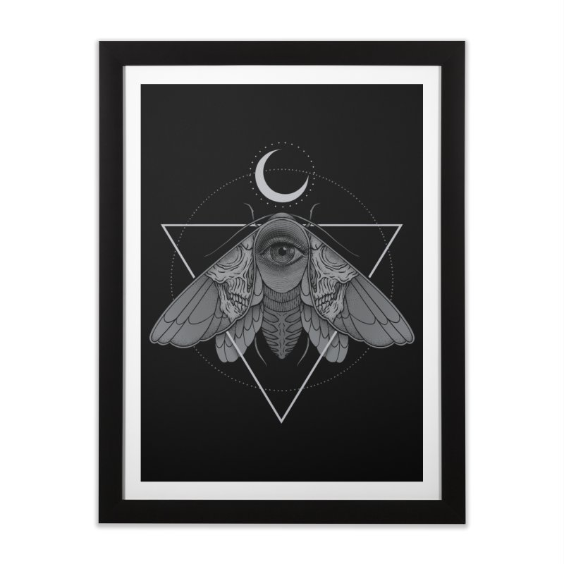 Occult Moth Home Framed Fine Art Print by Deniart's Artist Shop