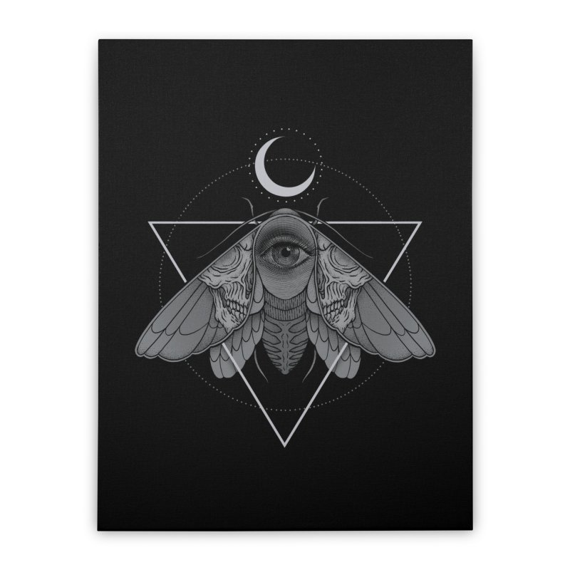 Occult Moth Home Stretched Canvas by Deniart's Artist Shop