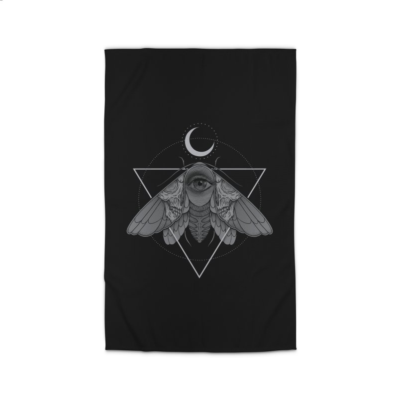 Occult Moth Home Rug by Deniart's Artist Shop