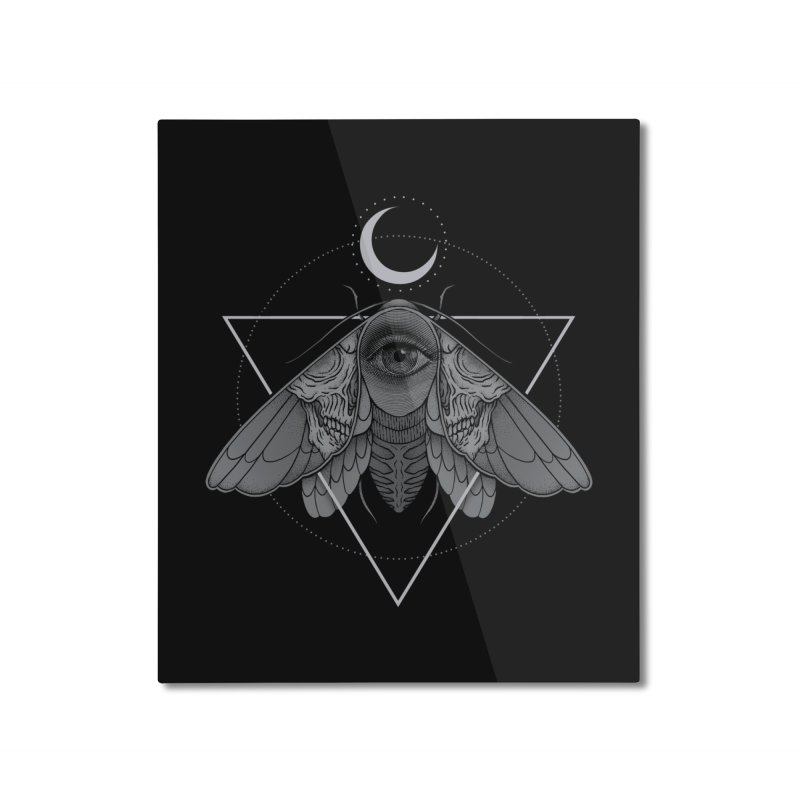 Occult Moth Home Mounted Aluminum Print by Deniart's Artist Shop