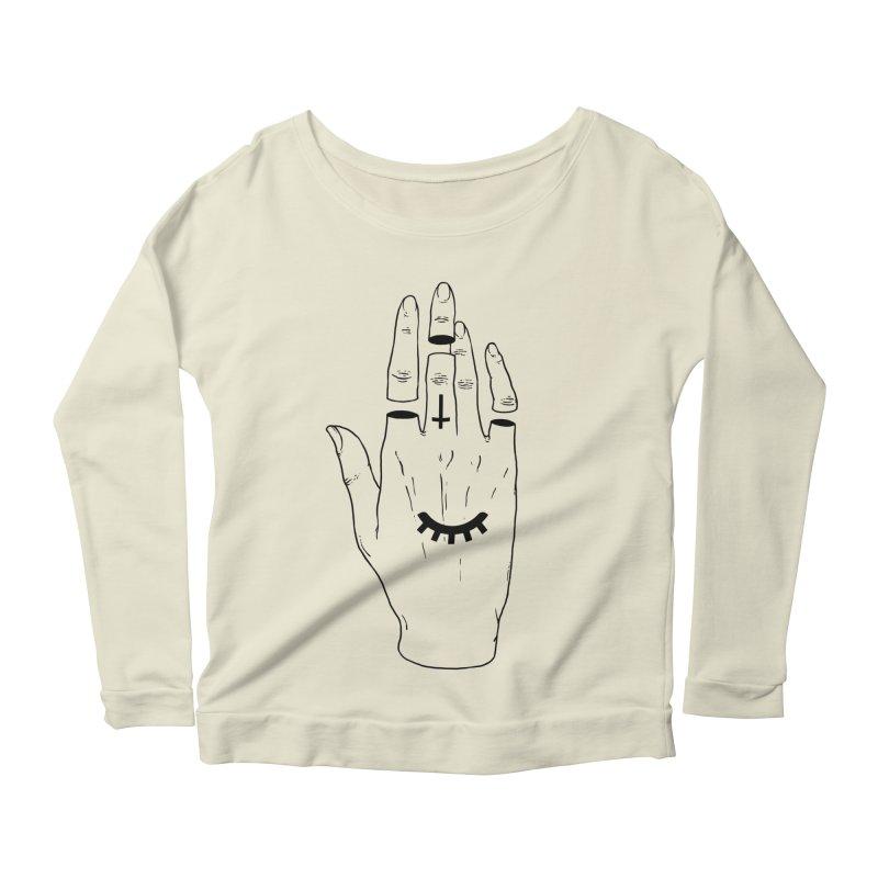 Occult Hand Women's Longsleeve Scoopneck  by Deniart's Artist Shop