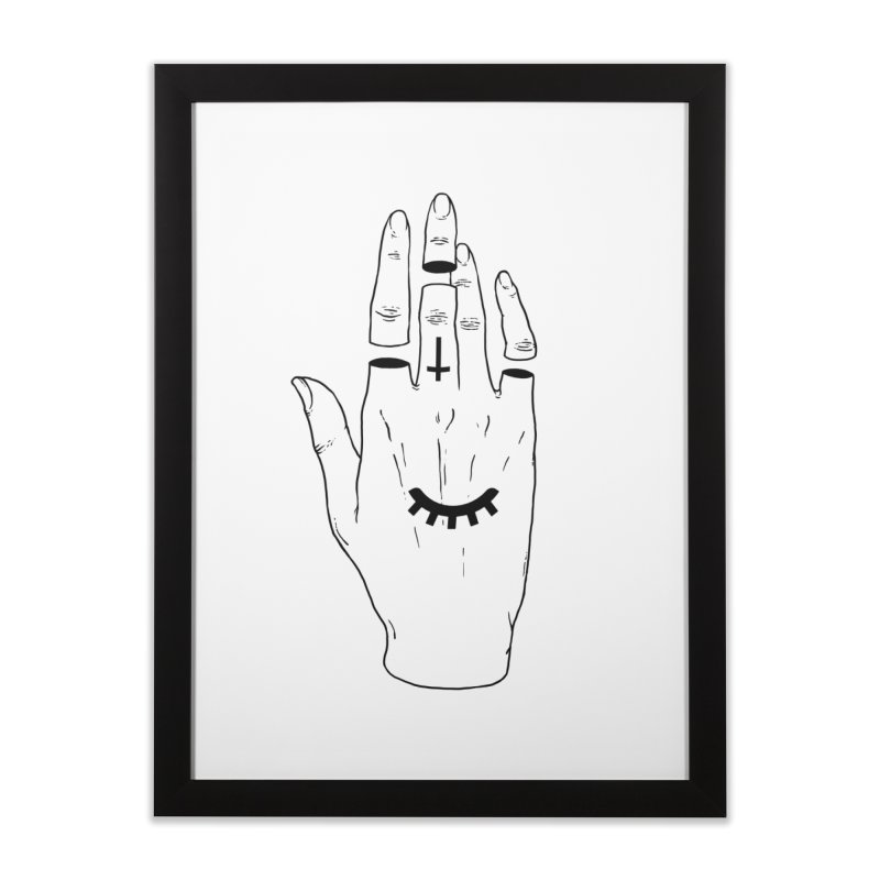 Occult Hand Home Framed Fine Art Print by Deniart's Artist Shop