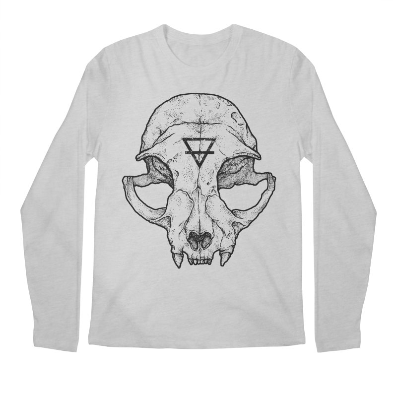 Cat Skull Men's Longsleeve T-Shirt by Deniart's Artist Shop