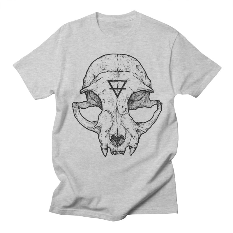 Cat Skull Men's T-Shirt by Deniart's Artist Shop