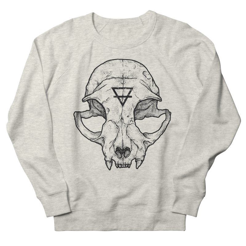 Cat Skull Men's Sweatshirt by Deniart's Artist Shop