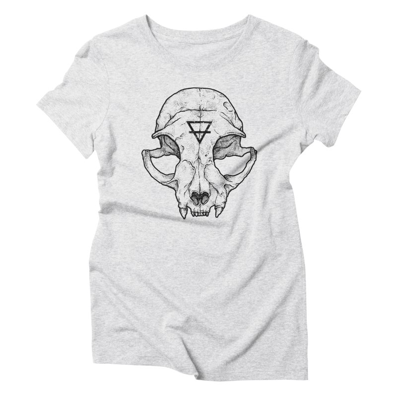 Cat Skull Women's Triblend T-shirt by Deniart's Artist Shop