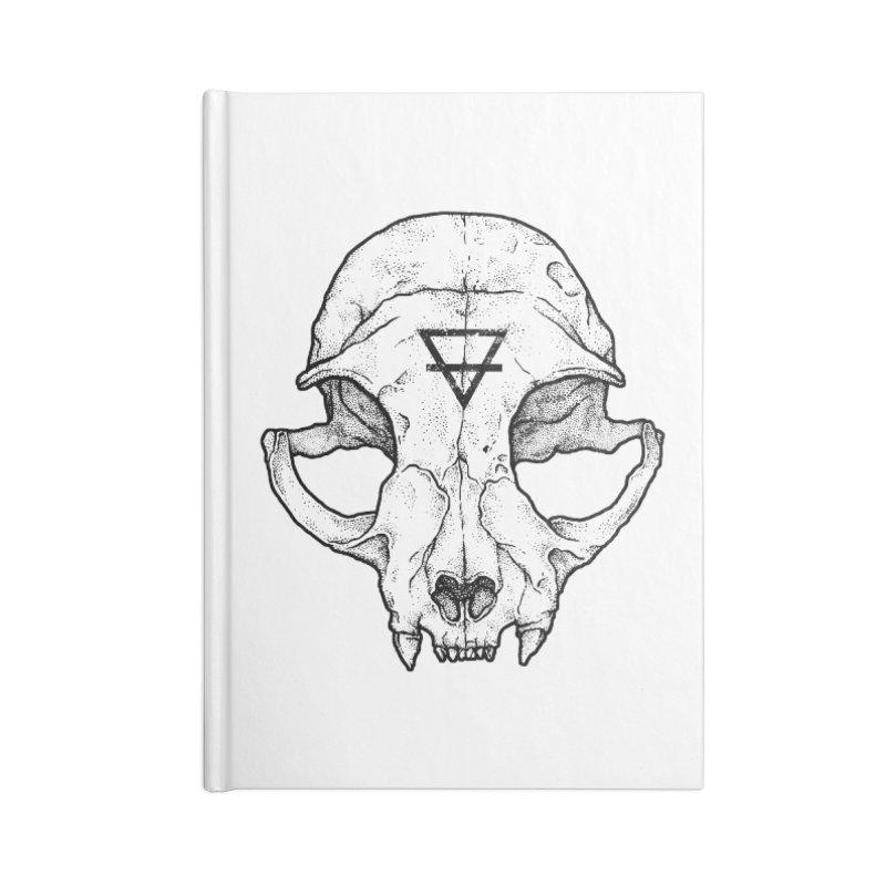 Cat Skull Accessories Notebook by Deniart's Artist Shop