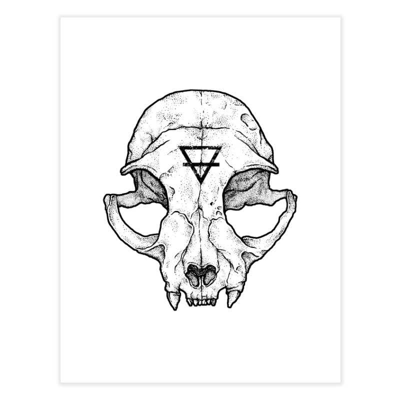 Cat Skull Home Fine Art Print by Deniart's Artist Shop