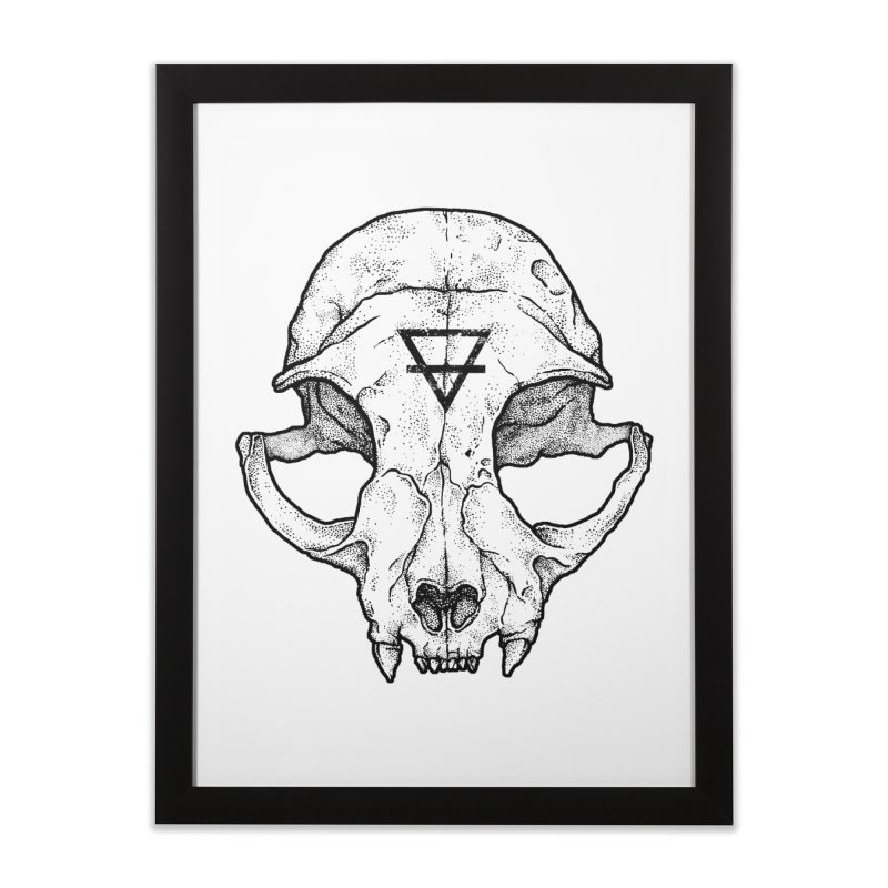 Cat Skull Home Framed Fine Art Print by Deniart's Artist Shop