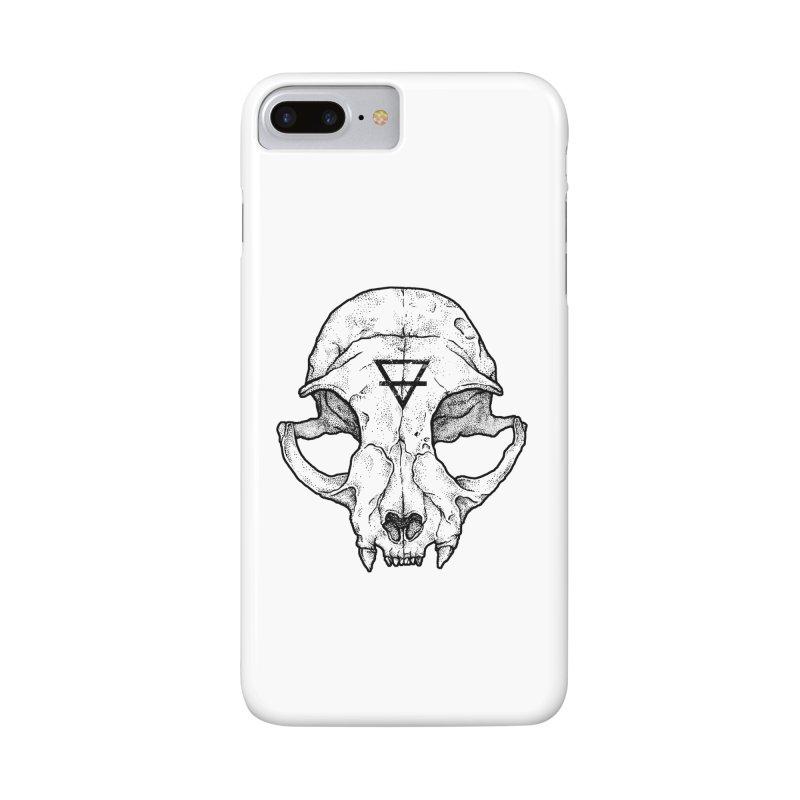 Cat Skull Accessories Phone Case by Deniart's Artist Shop
