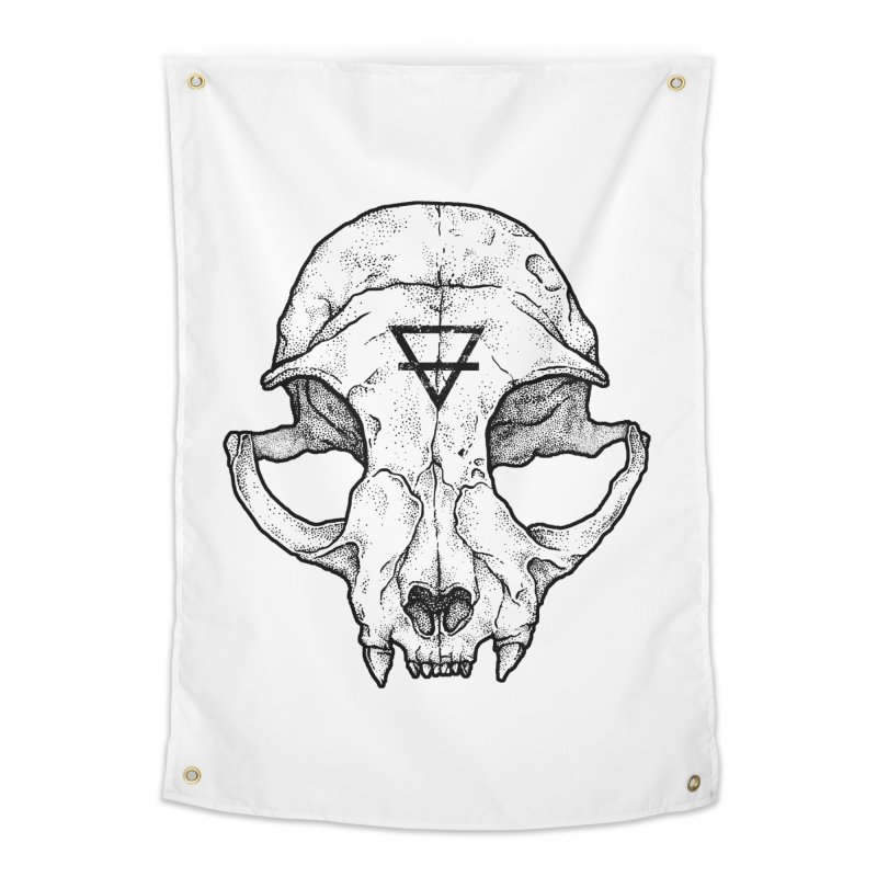 Cat Skull Home Tapestry by Deniart's Artist Shop