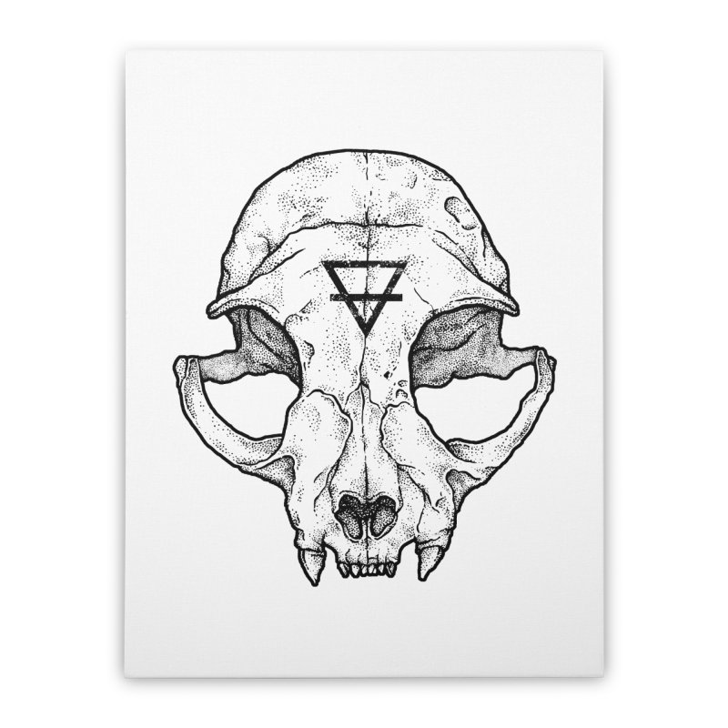 Cat Skull Home Stretched Canvas by Deniart's Artist Shop