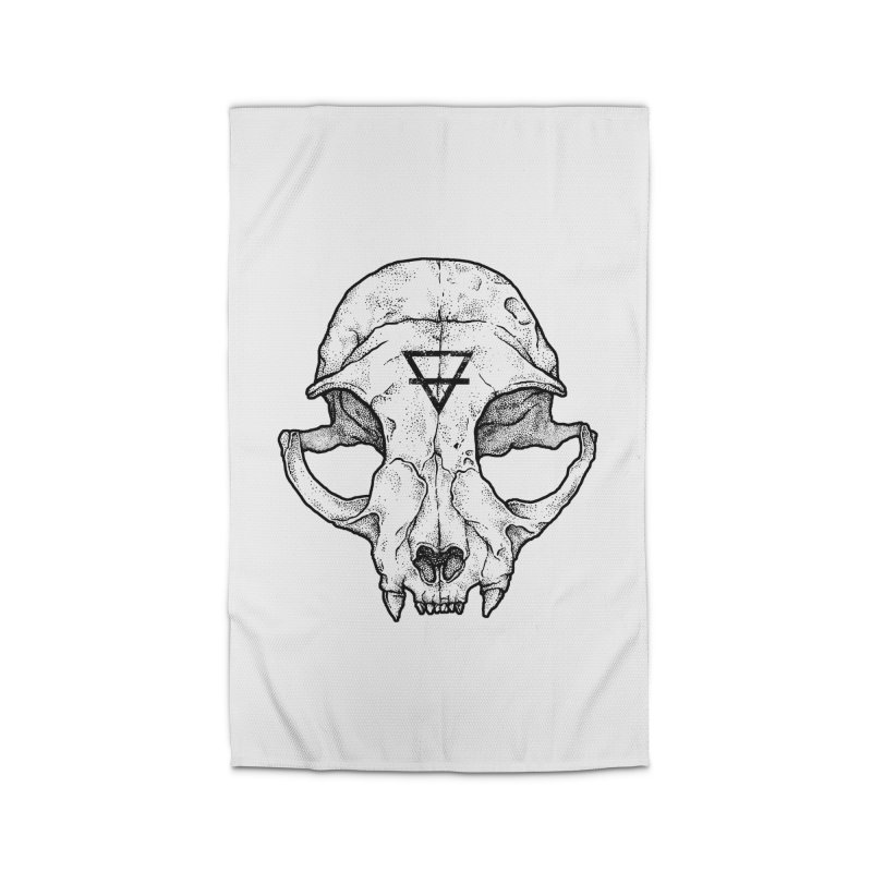 Cat Skull Home Rug by Deniart's Artist Shop