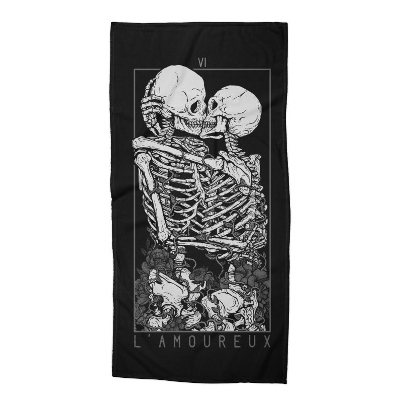 The Lovers Accessories Beach Towel by Deniart's Artist Shop