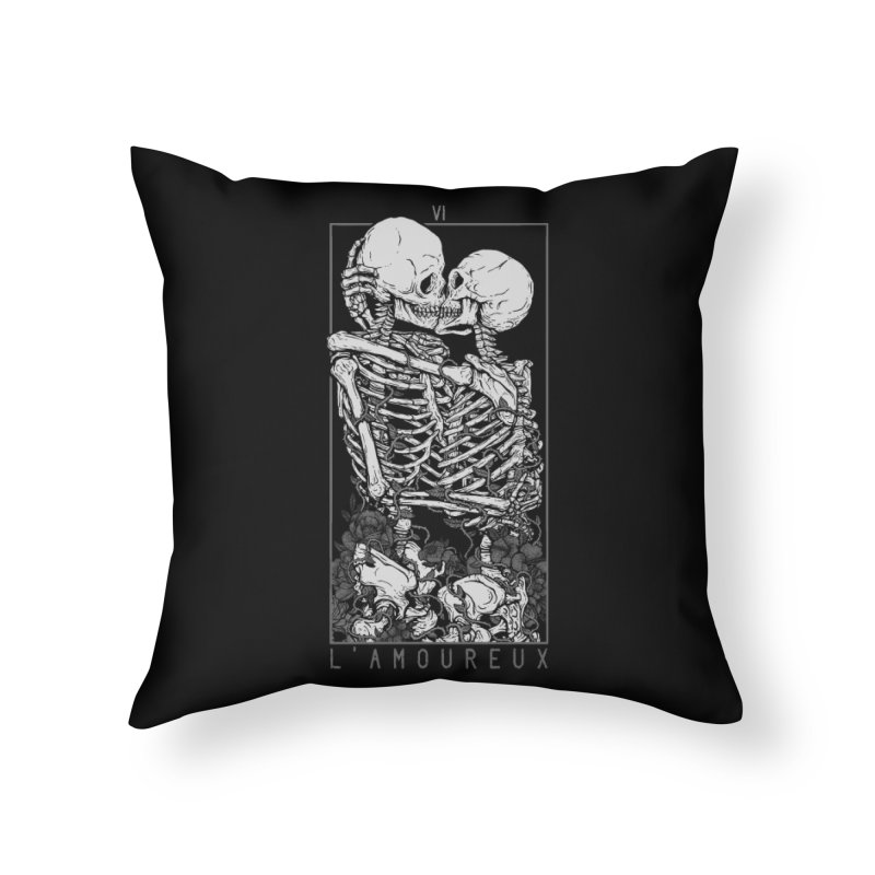 The Lovers Home Throw Pillow by Deniart's Artist Shop