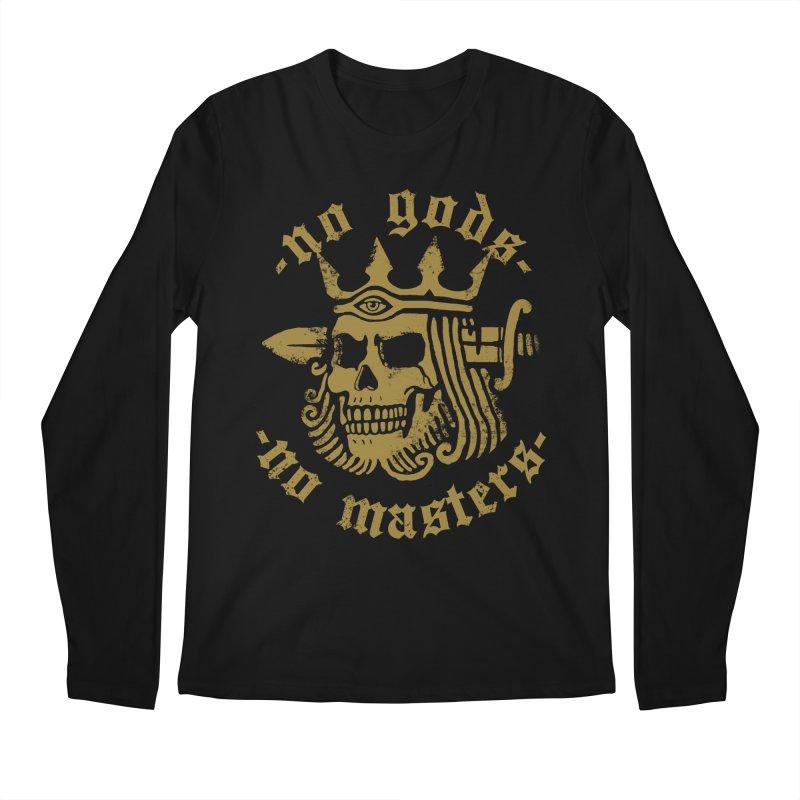 No Gods No Masters Men's Longsleeve T-Shirt by Deniart's Artist Shop