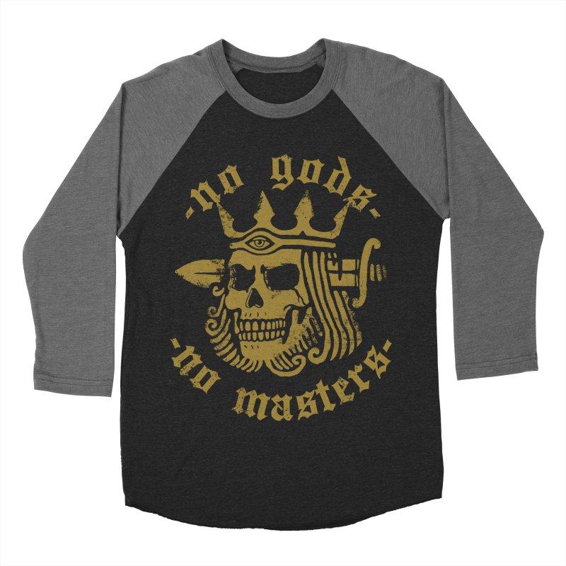 No Gods No Masters Women's Baseball Triblend T-Shirt by Deniart's Artist Shop