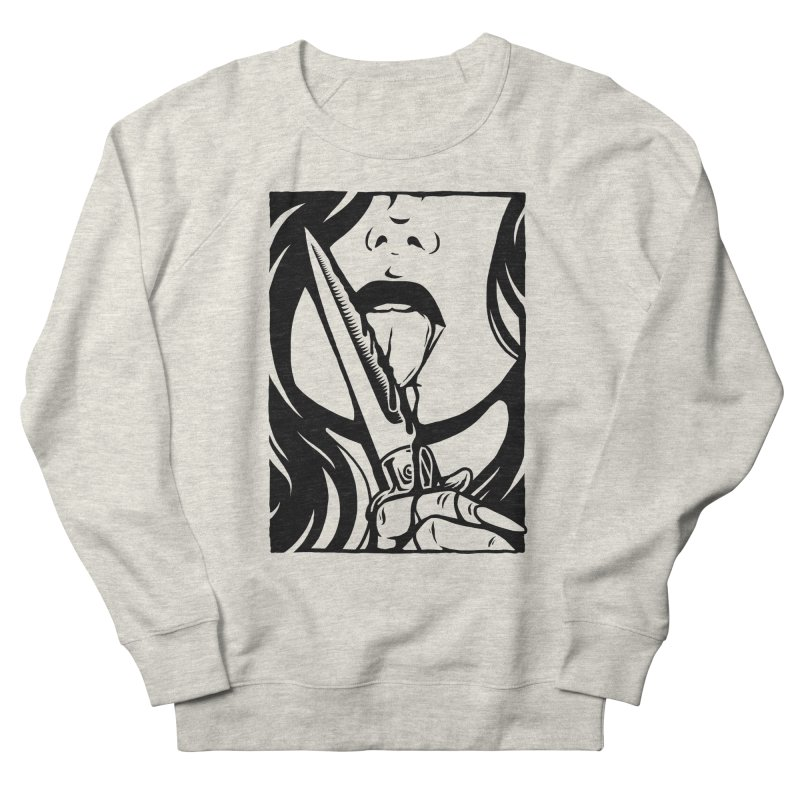 Dangerous Girl Men's French Terry Sweatshirt by Deniart's Artist Shop
